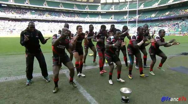 Kenya sevens dancing. (Lugonzo, Ayodi, Bush)