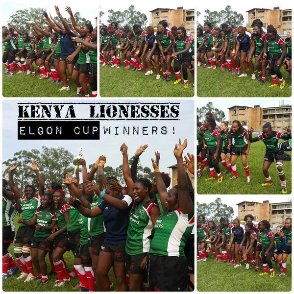 Photo : Kenya Lionesses celebrating their victory against uganda. Credits @UrbanTVUganda