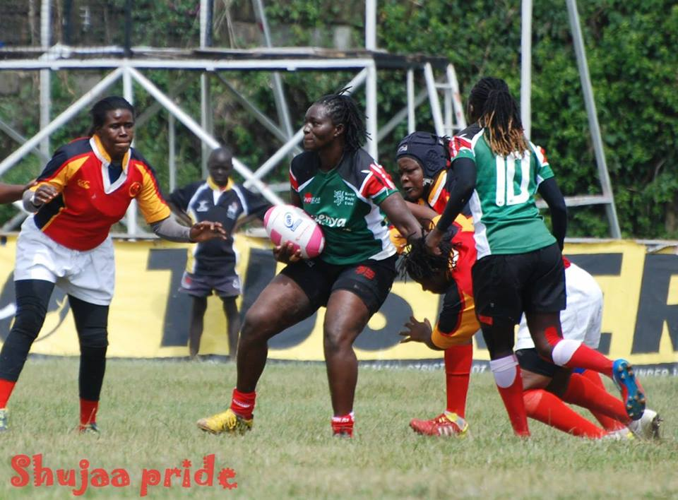 Photo : Millicent Opala in action for Kenya Lionesses