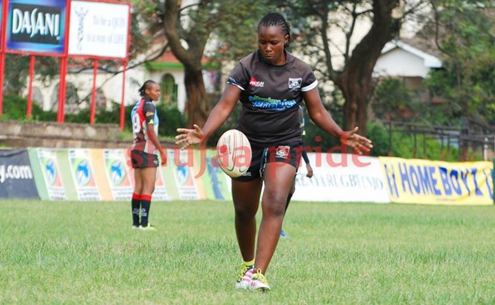 Photo : Doreen Remour in action for Mwamba against Kenya Harlequin.