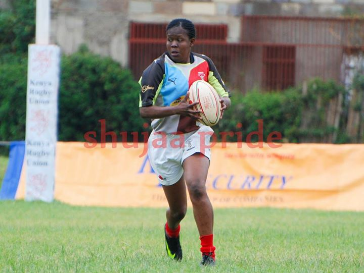 Photo : Rachael Mbogo in action for Kenya Harlequin | Shujaapride
