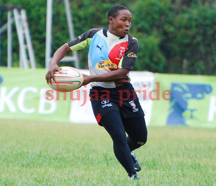 Photo : Mary Musieka in action for Kenya Harlequin