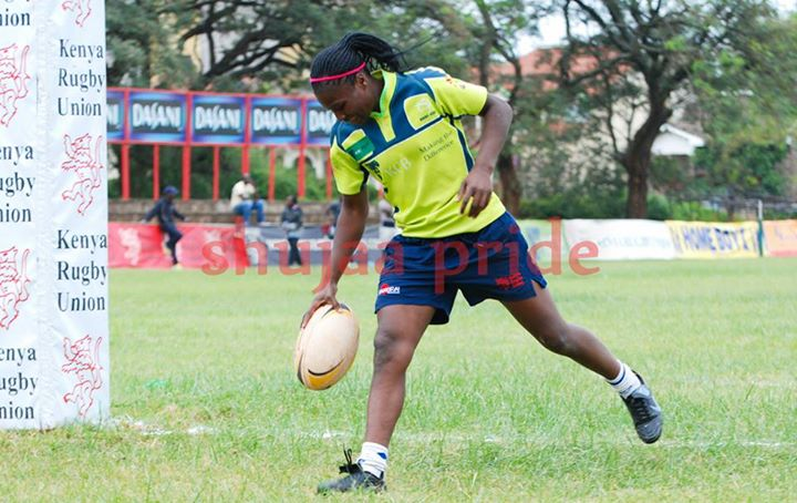 Photo : Janet Okello Shebesh in action for KCB