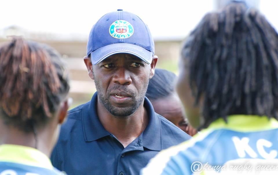 Photo : Coach Michael Shamia Mulima | Credits @Kenyarugbyqueen.
