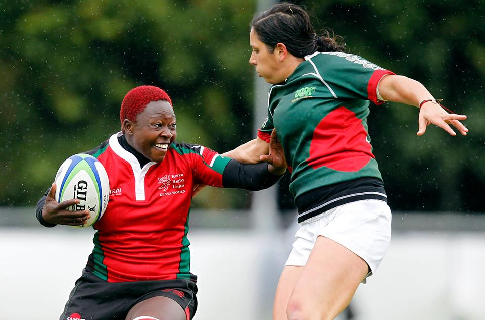 Janet Owino in action for KenyaLionesses