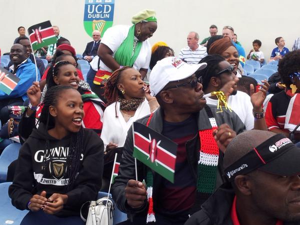 Kenya lioness's fans corner at UCD Dublin Ireland
