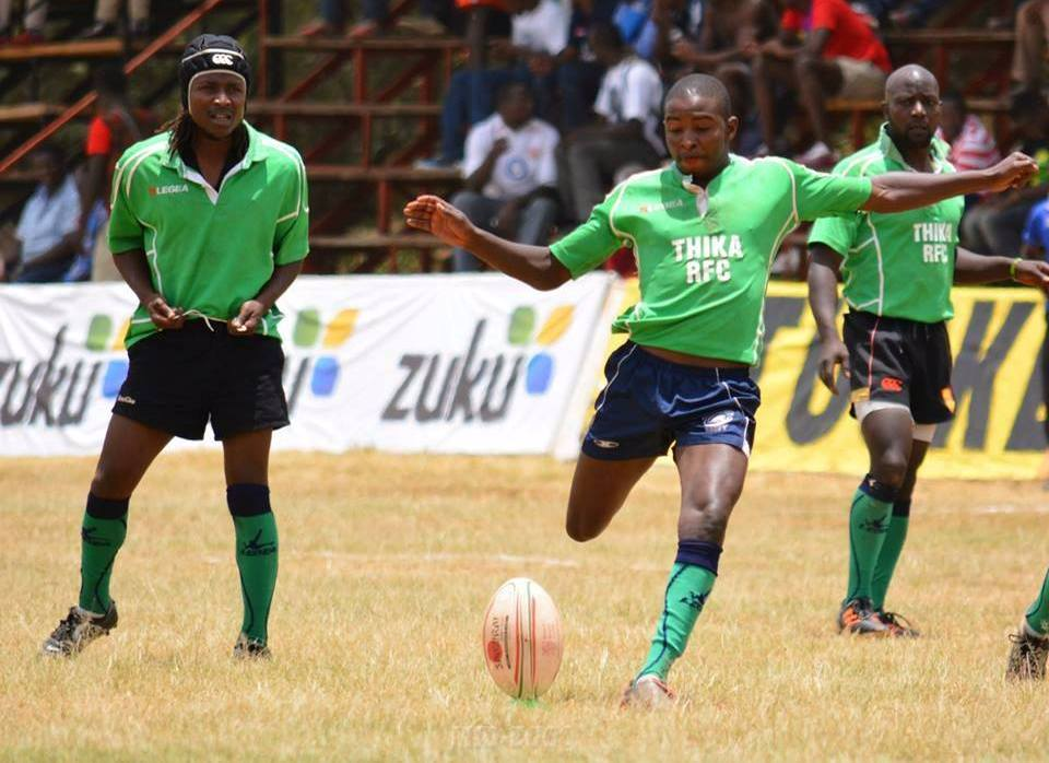 Samuel Kinyua in action for Thika Millers