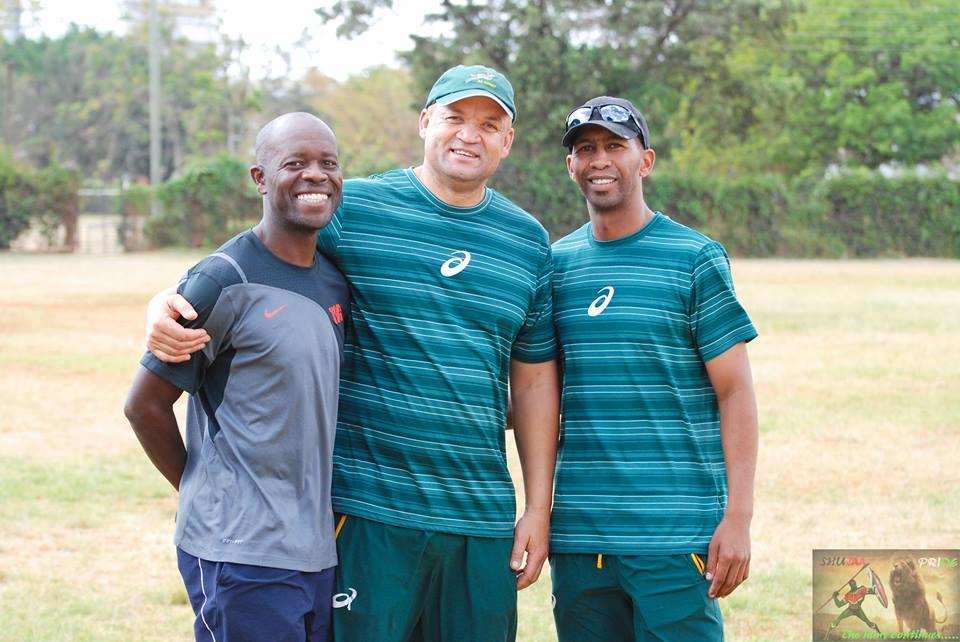 Michael Shamia, Deon Davids and Aschin Klein (Coach Ash).