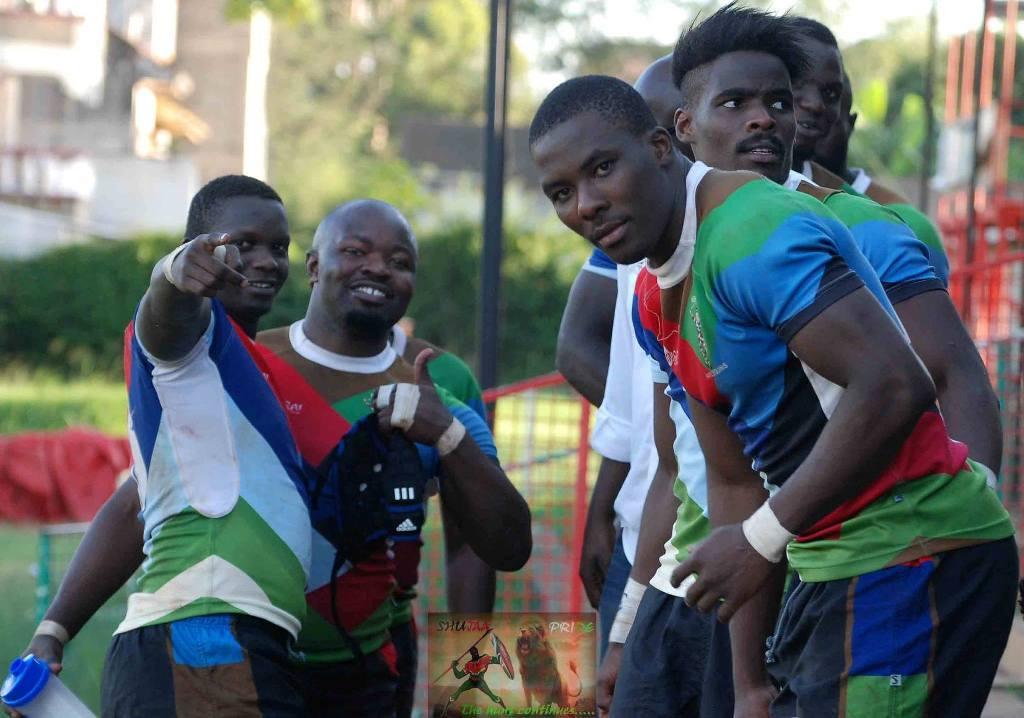 Photo : William Mawira and his Kenya Harlequins team mates.