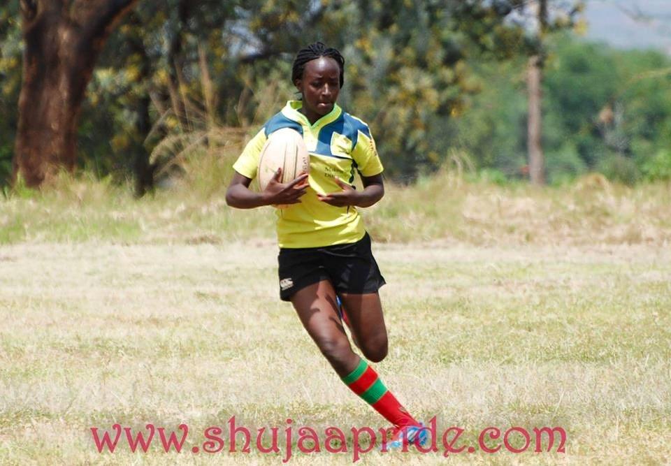 Faith Kaku Marie in action for KCB | KRU Women's 10s league