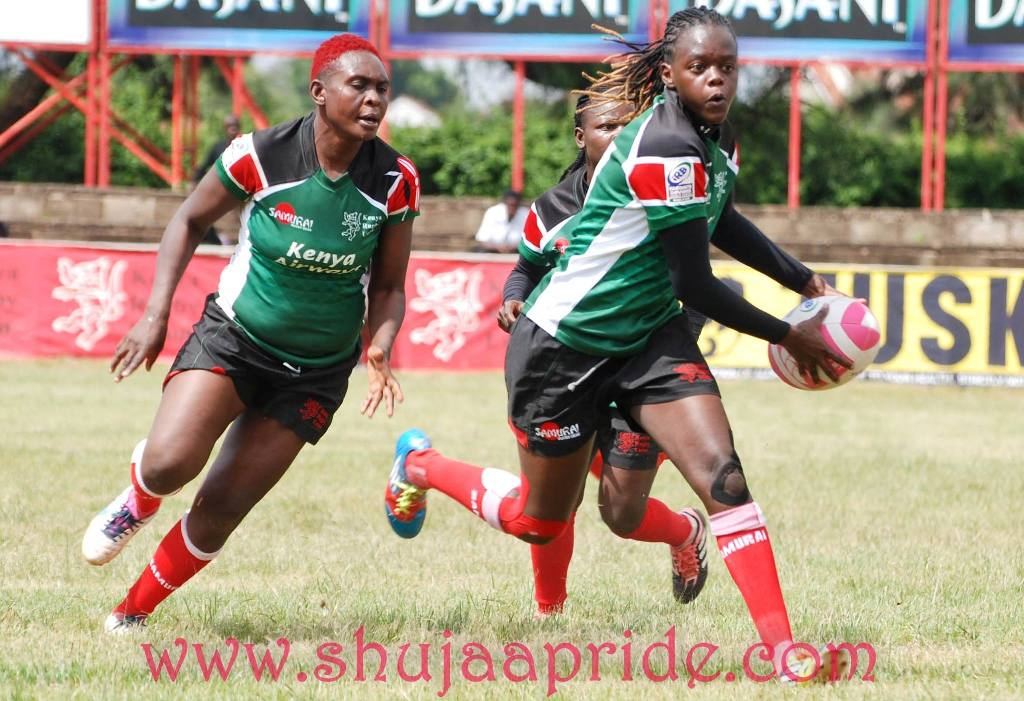 Photo : Kate Abilla in action for the Kenya Lionesses