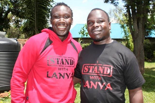 Photo : Elkeans Musonye and Duncan Lanya   IStandWithLany