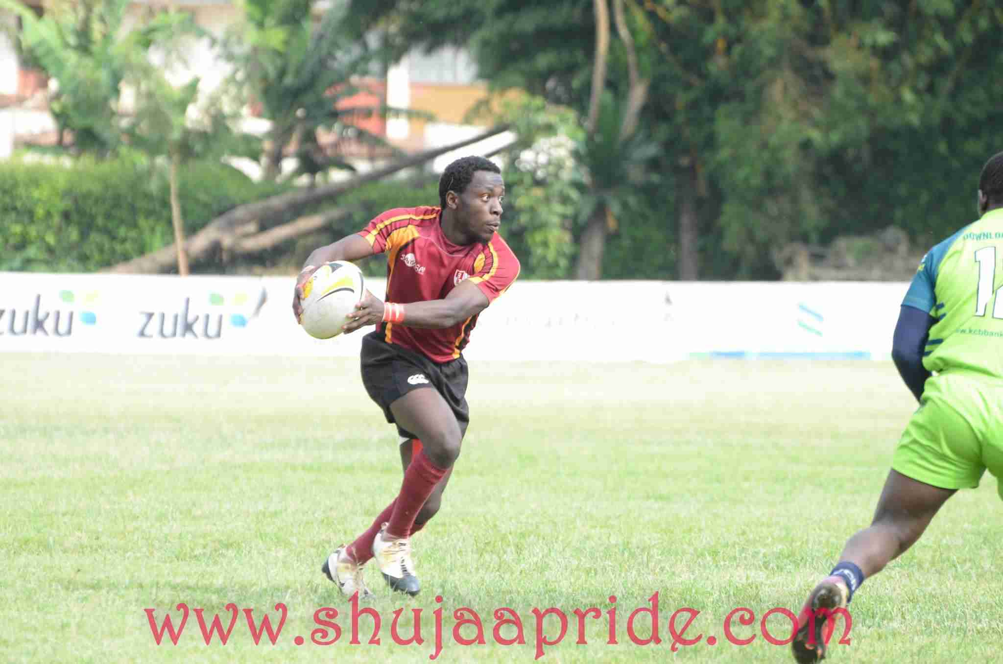 Photo : Ronny Collins Chisaka in action for Blak Blad against KCB   Enterprise cup 2016.
