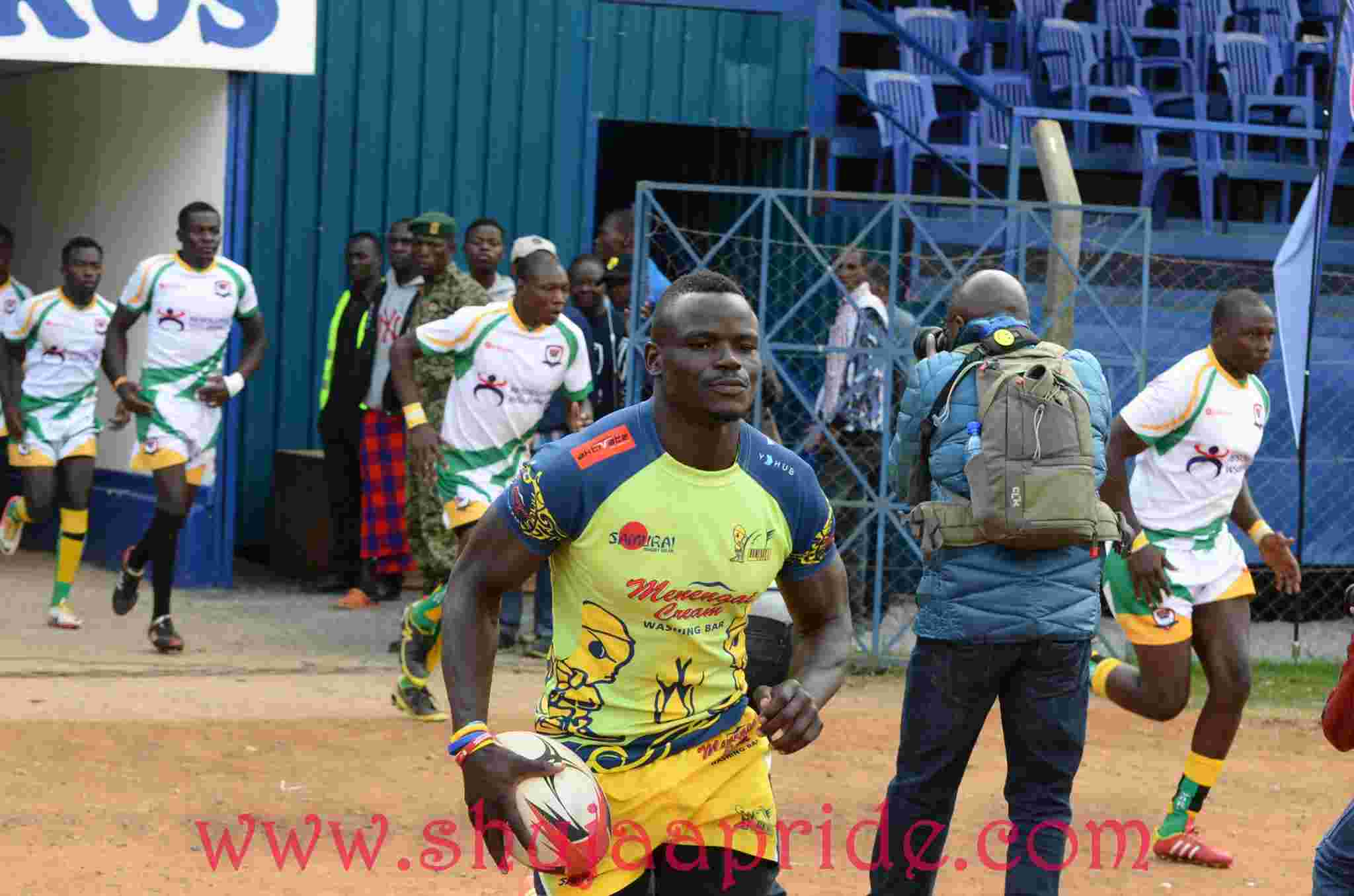 Photo : Humphrey Mulama in action at Masaku 7s 2016.