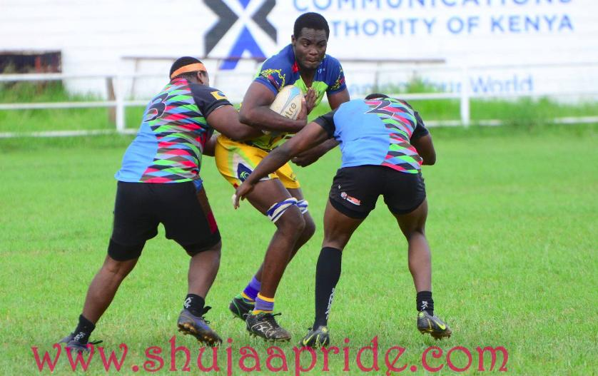 Photo : Andrew Chogo in action for Homeboyz against Kenya Harlequins