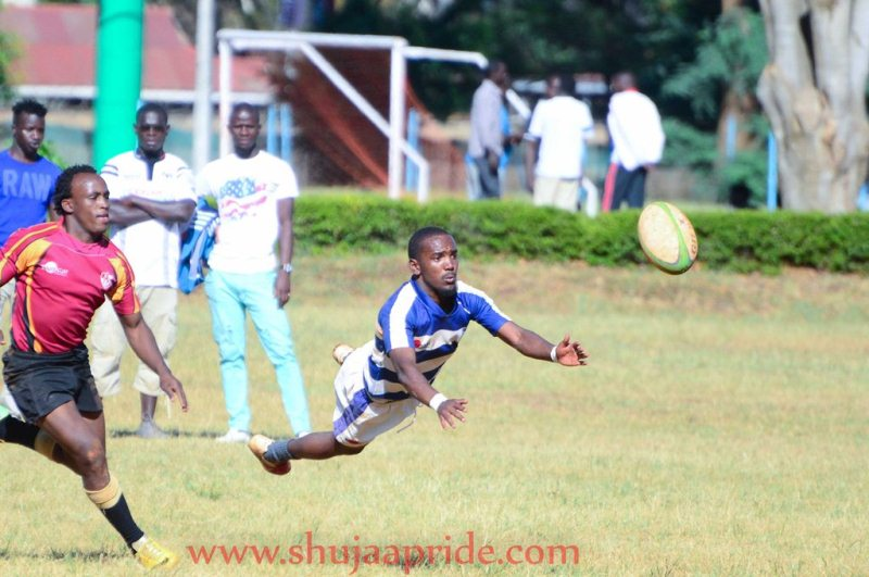 Photo : Marvin Karungii in action for Mean Machine against Blak Blad