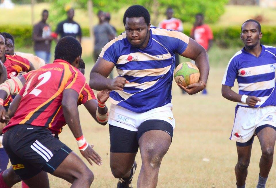 Photo : Melvin Thairu in action for Mean Machine against Blak Blad
