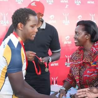 Photo : Michael Ouma and Martha Karua