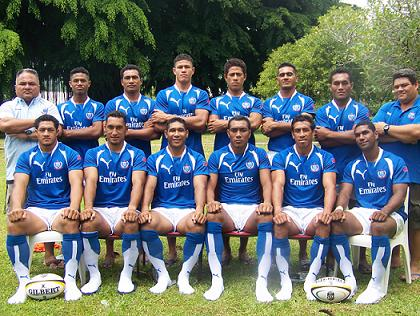 Samoa sevens team for the Wellington 7s and Las Vegas 7s 2015