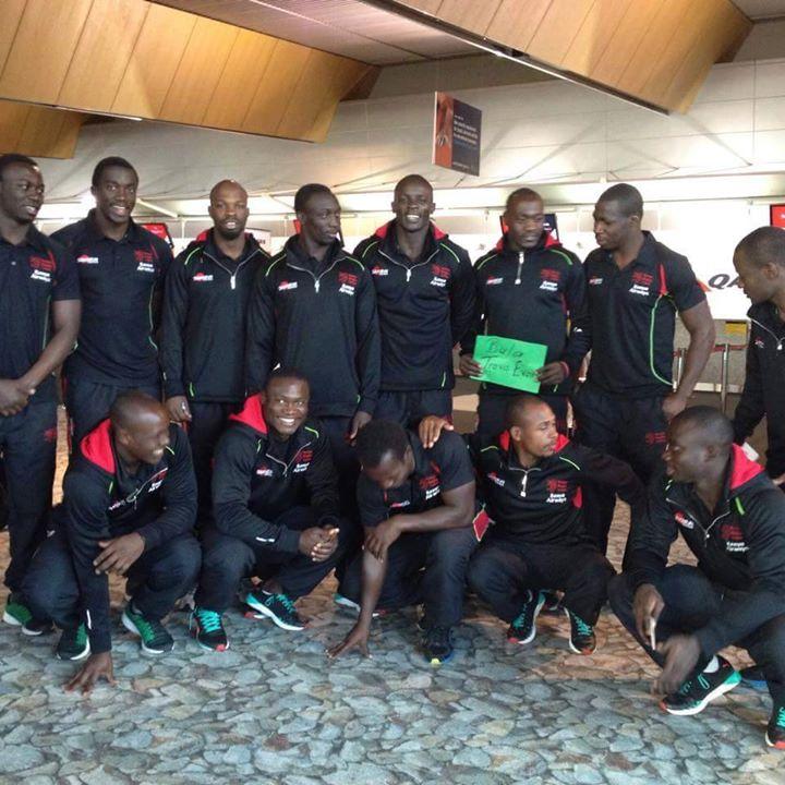 Kenya Sevens arrive at Las Vegas