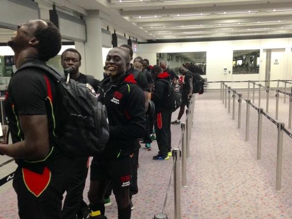 Kenya Sevens arrive at Hong Kong