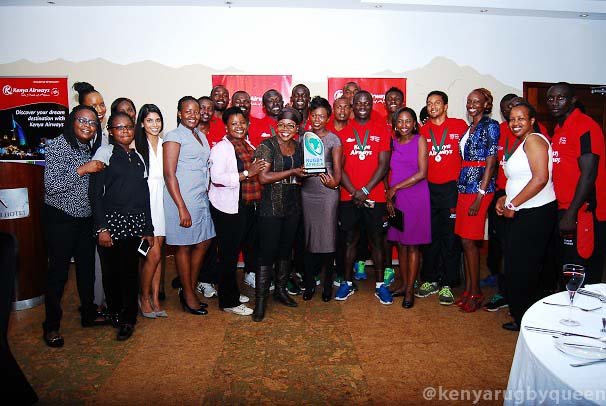 Photos : Kenya 7s arrive back from South Africa