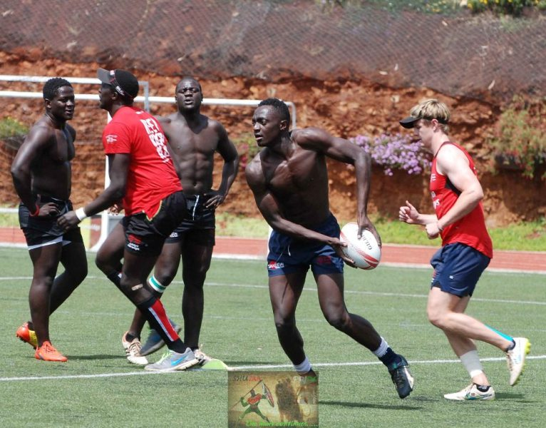 Kenya 7s training session