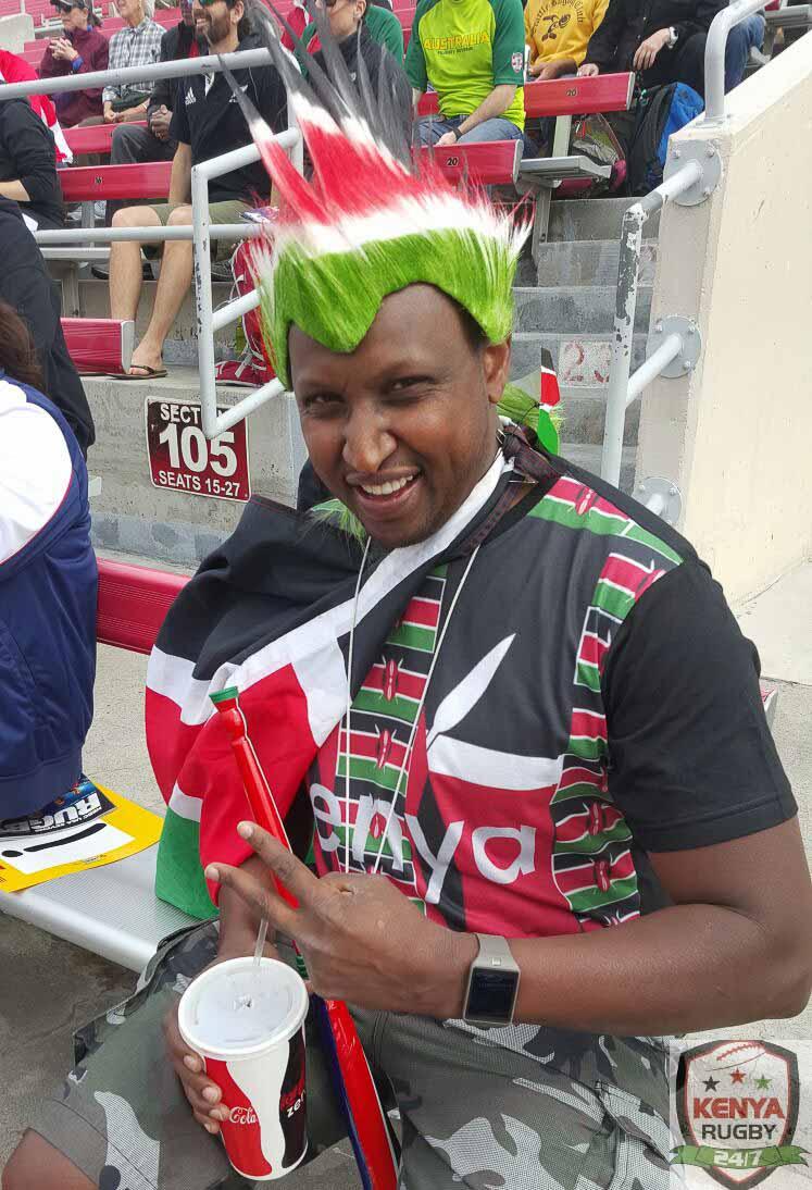 Kenya sevens fans in Las Vegas 2016 : USA 7s