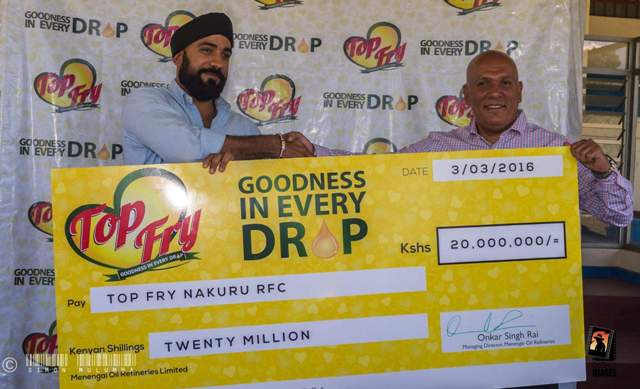 Nakuru Rugby lands a 20 million shilling sponsorship deal with Top Fry