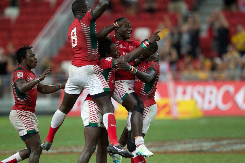 Watch : Kenya 7s vs Argentina : Singapore 7s Cup Semi Finals 2016