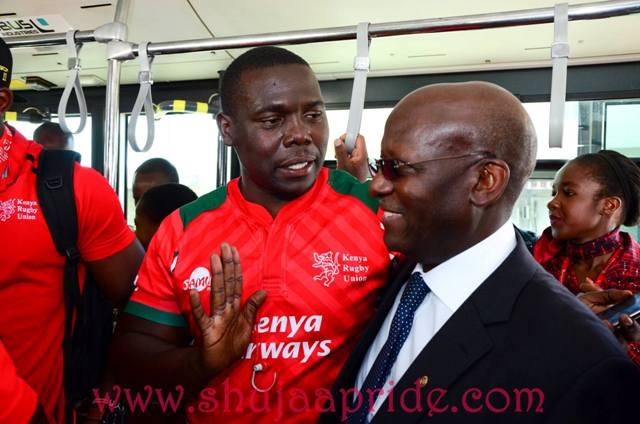 Photos : Kenya 7s reception at JKIA after winning Singapore 7s