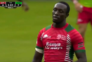 Video : Kenya 7s vs Portugal : Paris sevens 2016