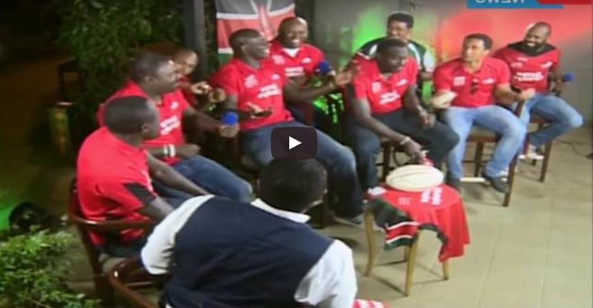 Video : Kenya 7s team and Sauti Sol on the JKL show
