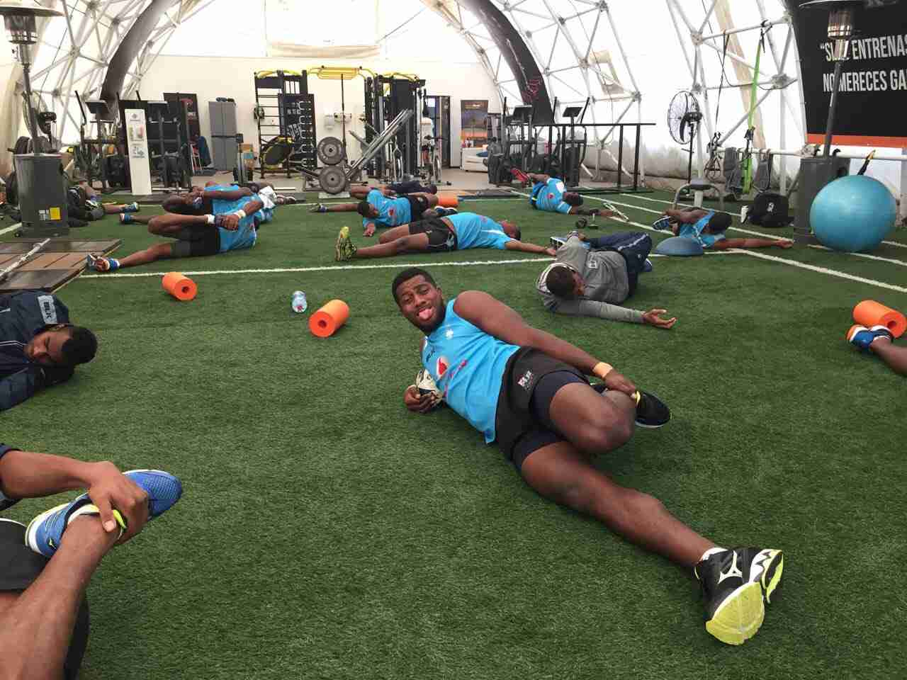 Fiji sevens rugby Team Vigorous Training Session