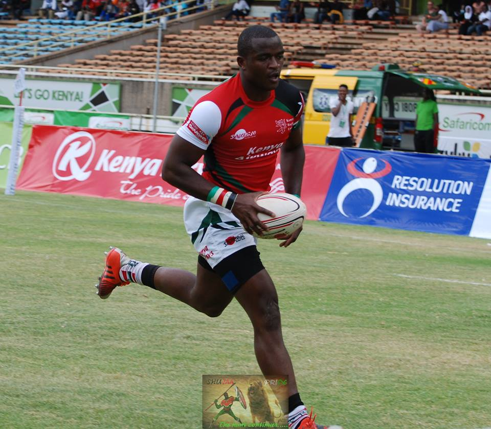 Willy Ambaka on the rampage! and finishing with a flourish against the mighty Fiji Rugby