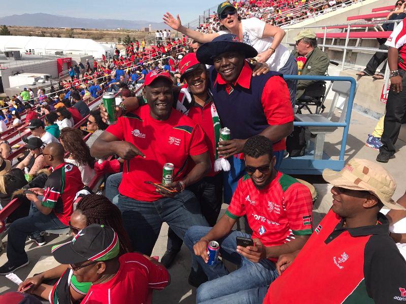 Video - Georgie Mokuasi cheering up Kenya 7s crowd