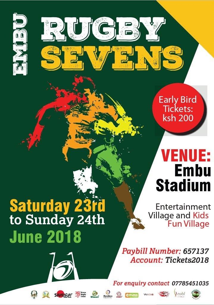 Embu sevens 2018 pools