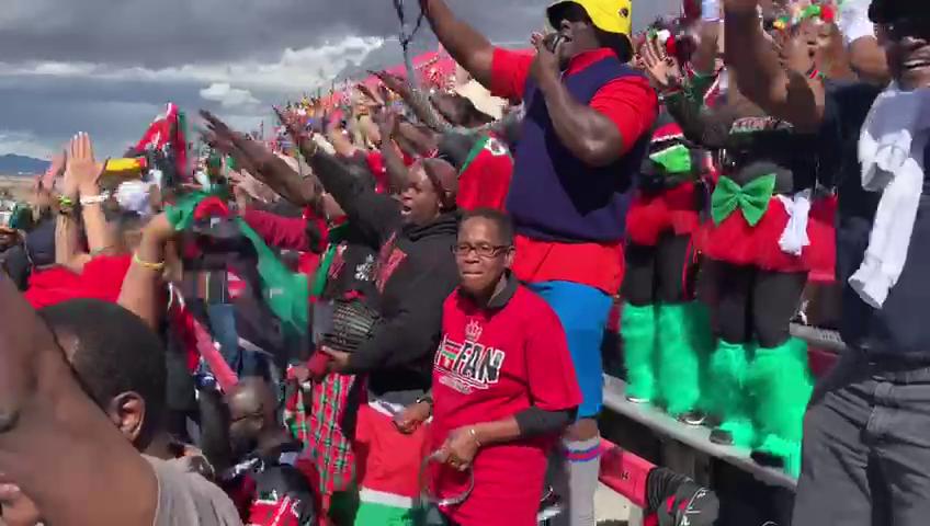 Kenya 7s Fans corner at USA Las Vegas 7s 2019
